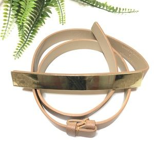 Tan and Gold Belt from The Limited